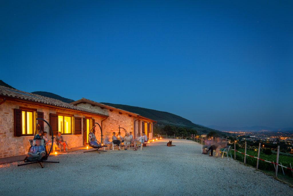 Tili Vini Assisi -vista annesso sera