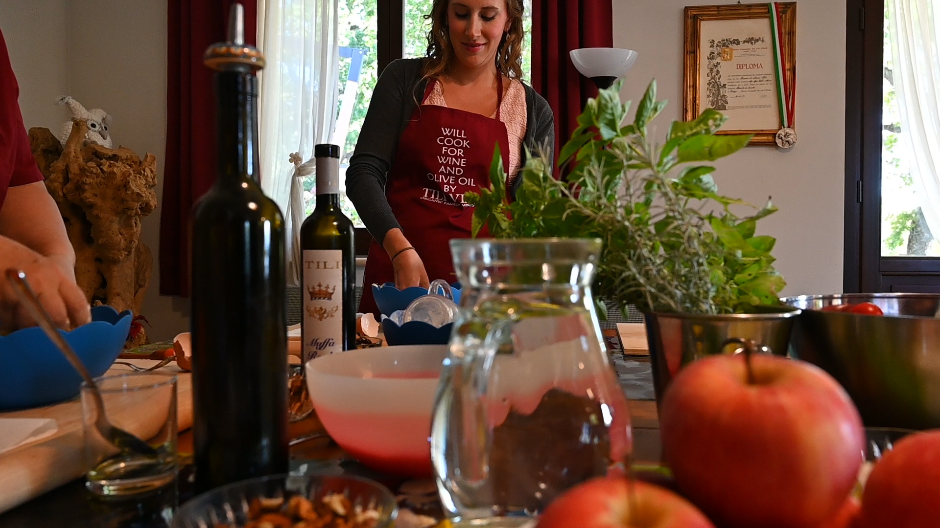 Esperienza sensoriale Assisi Tili Vini - Lezioni di cucina Umbra 10