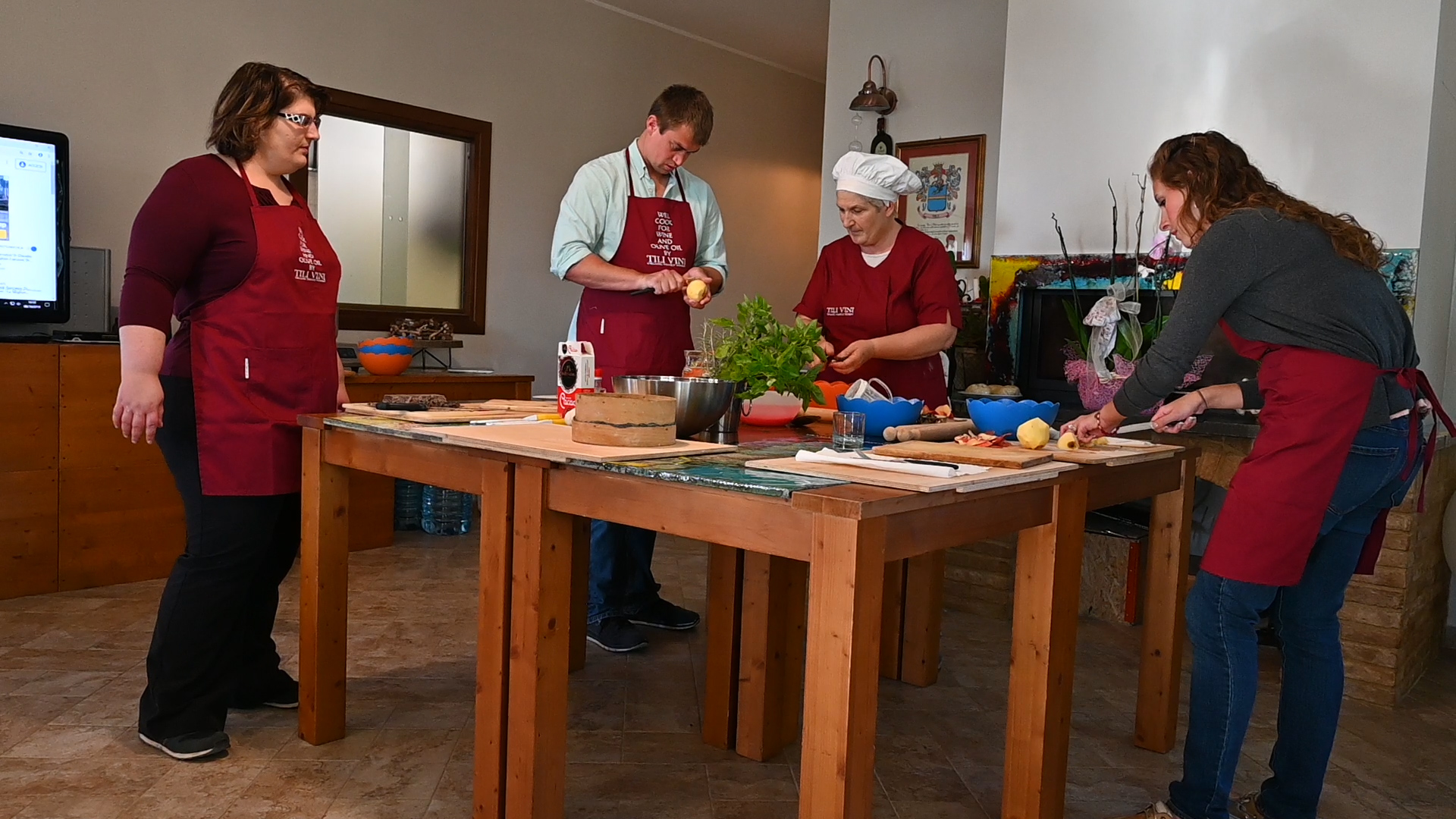 Esperienza sensoriale Assisi Tili Vini - Lezioni di cucina Umbra 15
