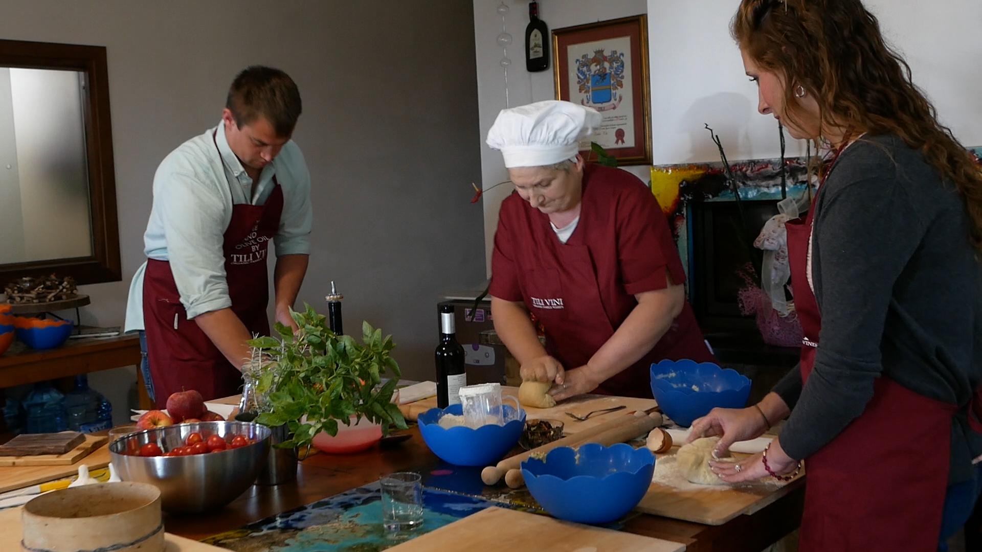 Esperienza sensoriale Assisi Tili Vini - Lezioni di cucina Umbra 2